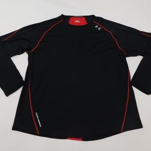 Under Armour 2XL Black Red Crewneck Tee  Polyester